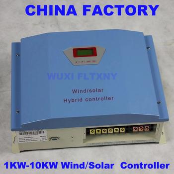 FLTXNY POWER 1KW2kw 48VDC IP42 hybrydowy wiatr i kontroler słoneczny Regulator PWM dla generatorów turbin wiatrowych Dumpload Insered tanie i dobre opinie CN (pochodzenie) WWS20-48 wws10-48 24v iron 1KW-10KW 56Vdc Blue