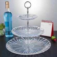 3 Tier Plastic Cake Stand Afternoon Tea Wedding Plates Party Tableware New Bakeware Cake Shop Three Layer Cake Rack