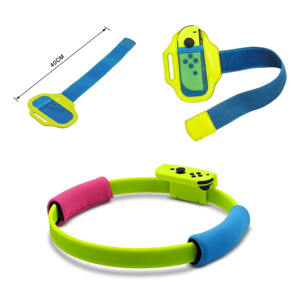 2019 nueva correa elástica ajustable para pierna Correa deportiva 60cm anillo-Con empuñaduras pierna para Nintend Switch joy-con anillo adecuado juego de aventura - 4