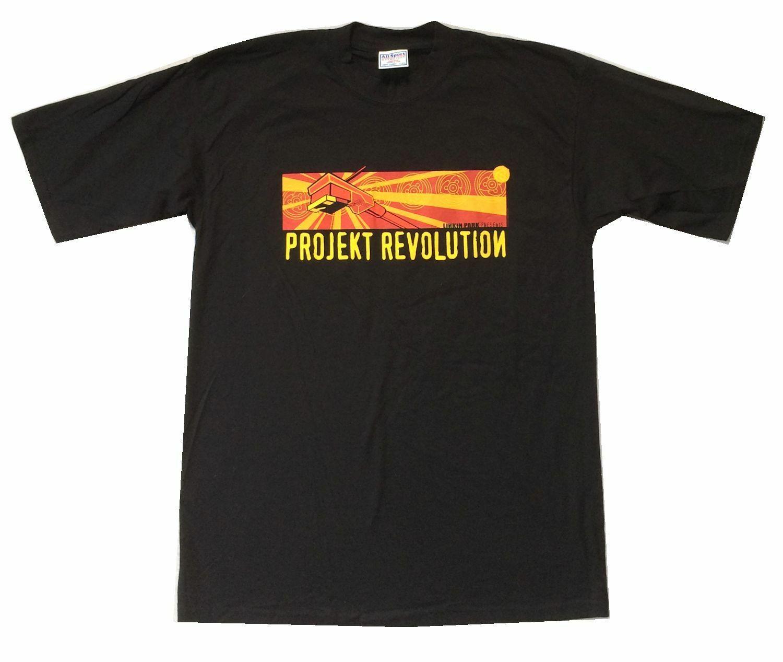 Linkin Park Projekt Revolution Rekord Arm Schwarz T Hemd Neue Offizielle NOS Projekt