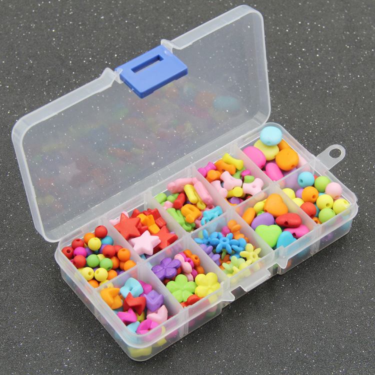 Small Ten Grid Dull Polish Children Jewelry Handmade DIY Early Education Beaded Bracelet Gift Box Loose Beads Weak Sight Trainin