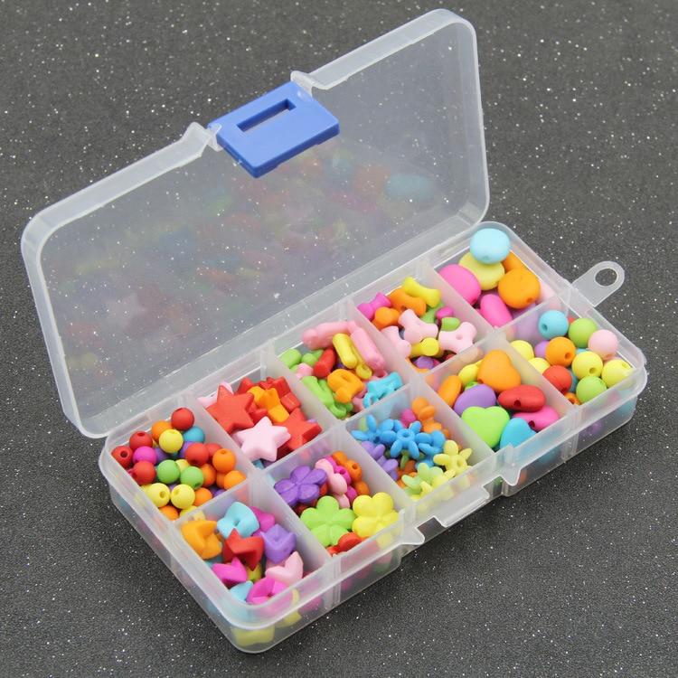Small Ten Grid Dull Polish Children Jewelry Handmade DIY Early Education Beaded Bracelet Gift Box Loose Beads Weak Sight Trainin