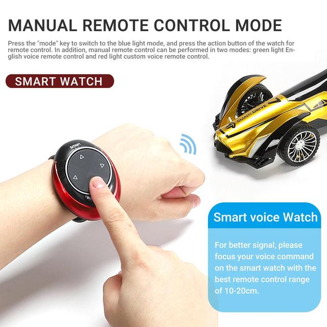 2020 New 2.4G Intelligent Speech RC Car Voice Watch Remote Control Off-road Racing Car High Speed Drift Vehicle Toy Gift for Boy 4