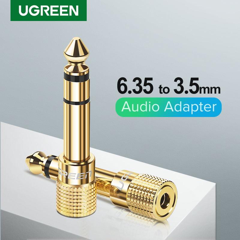 Ugreen – connecteur Audio Jack 3.5, 6.35mm mâle à 3.5mm femelle, câble auxiliaire pour haut-parleur de guitare 3.5