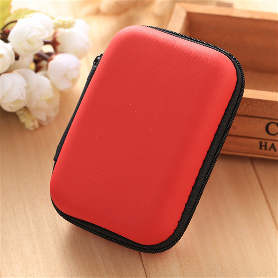 6 Colors Cosmetic Bags Hard Nylon Carry Bag Compartments Case Cover Headphone Earphone Jewelry Bag