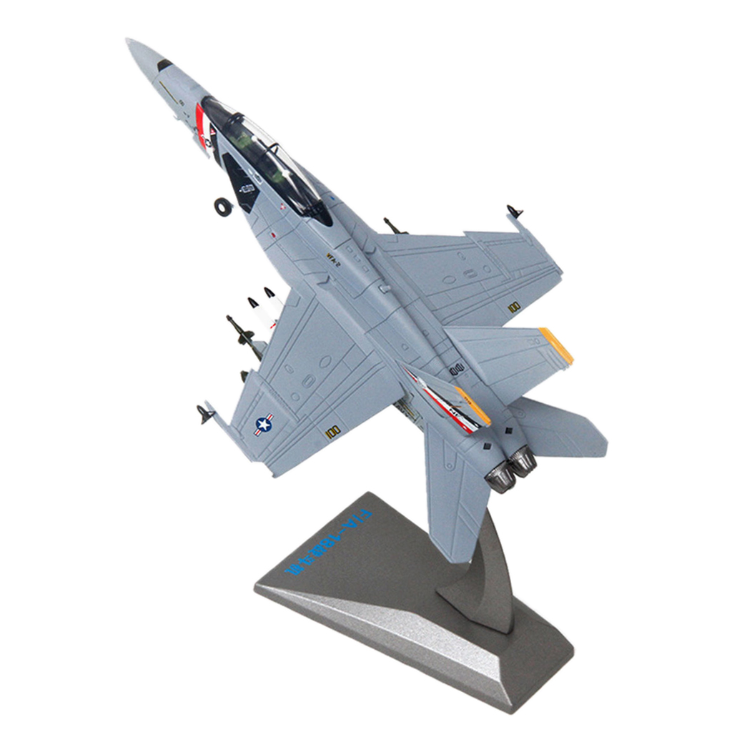 1:100 <font><b>F18</b></font> Hornet Military Diecast Fighter Aircraft Model Toy Collection Gift image
