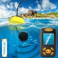 휴대용 수중 음파 탐지기 화이트 방수 어군 탐지기 lcd 모니터 음파 탐지기 알람 fishfinder 1.3 피트 328 피트 에코 새로운 s23