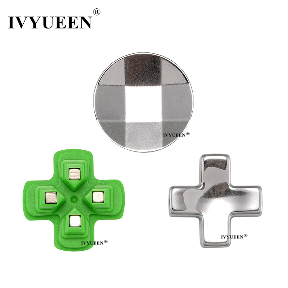 IVYUEEN Magnetic Dpad Buttons Mod Kit For PlayStation 4 PS4 Pro Slim Controller Metal D Pad For Dualshock 4 DS4 Control