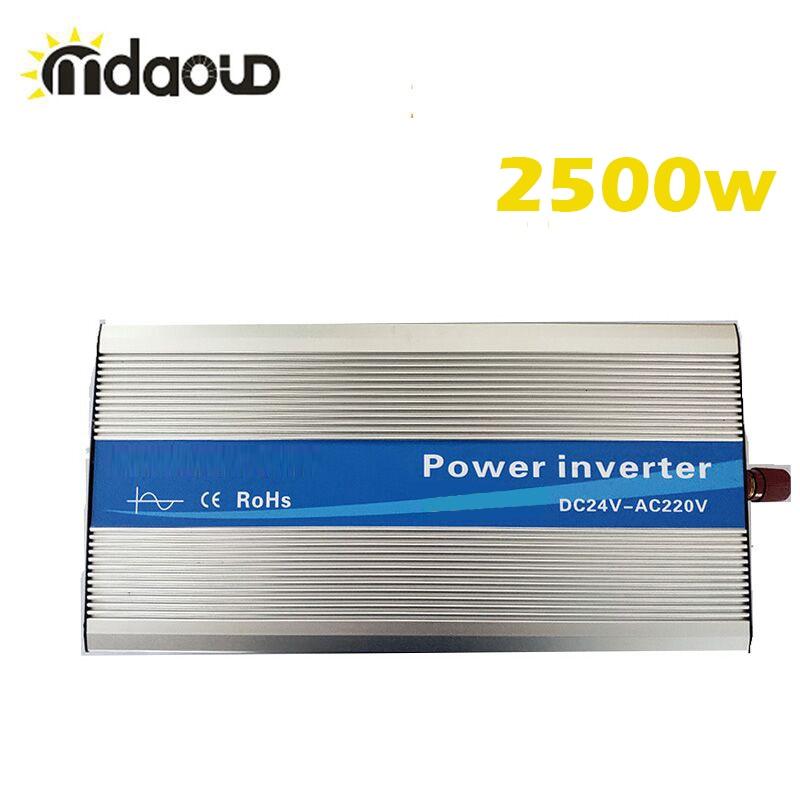 Off Grid Solar Power Inverter Converter 2500Watt (5000W Peaking) 12/24/48VDC To 110/220VAC Pure Sine Wave