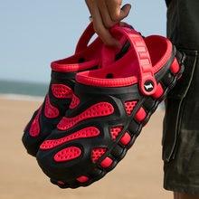Тапки мужские резиновые мягкие удобные сандалии для пляжа и