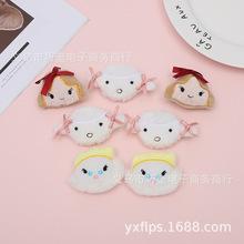 Śliczne japońskie INS Cartoon pluszowa mała kokardka dla dziewczynek Lamb skarpetki z bałwanem akcesoria stroik akcesoria opaski do włosów tanie tanio Zhejiang Yiwu