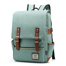 Moda feminina do vintage mochila grande lona mochilas dos homens portátil de viagem escola negócios adolescentes meninas quadrado mochila