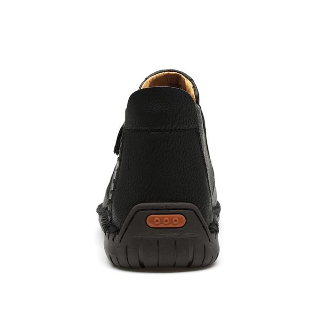 Классические зимние мужские ботинки мокасины 4