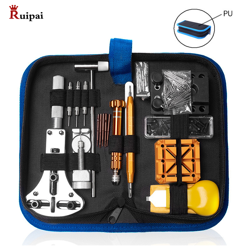 RUIPAI 149pc  Watch Repair Tool Kit Watch Link Pin Remover Case Opener Spring Bar Remover Horlogemaker Gereedschap