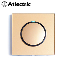 Atlectric ON/OFF Button Switch 1/2/3/4 Gang 1/2 Way Wall Light Switch With LED Indicator Tempered Glass Panel Lamp Light 86Type