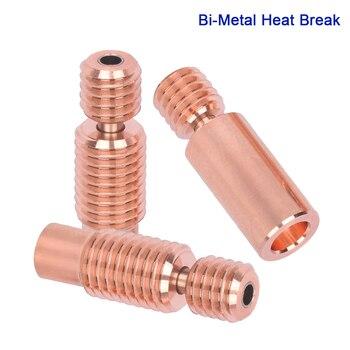 High Quality Bi-Metal Heat Break For V6 Heater Block Hotend I3 MK3 Extruder V6 Throat 1.75MM Smooth Heatbreak 3D Printer Parts mellow all metal nf crazy hotend v6 copper nozzle for ender 3 cr10 prusa i3 mk3s alfawise titan bmg extruder 3d printer parts