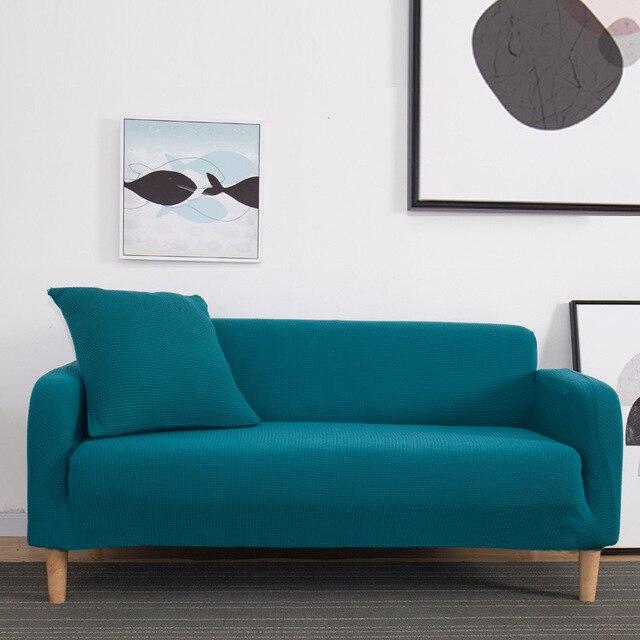Winter Warm Fleece Cover Sofa Gebruik Voor Woonkamer Cubre Sofa Couch Cover All inclusive Stretch Elastische Slip Cover 1/2/3/4 zits
