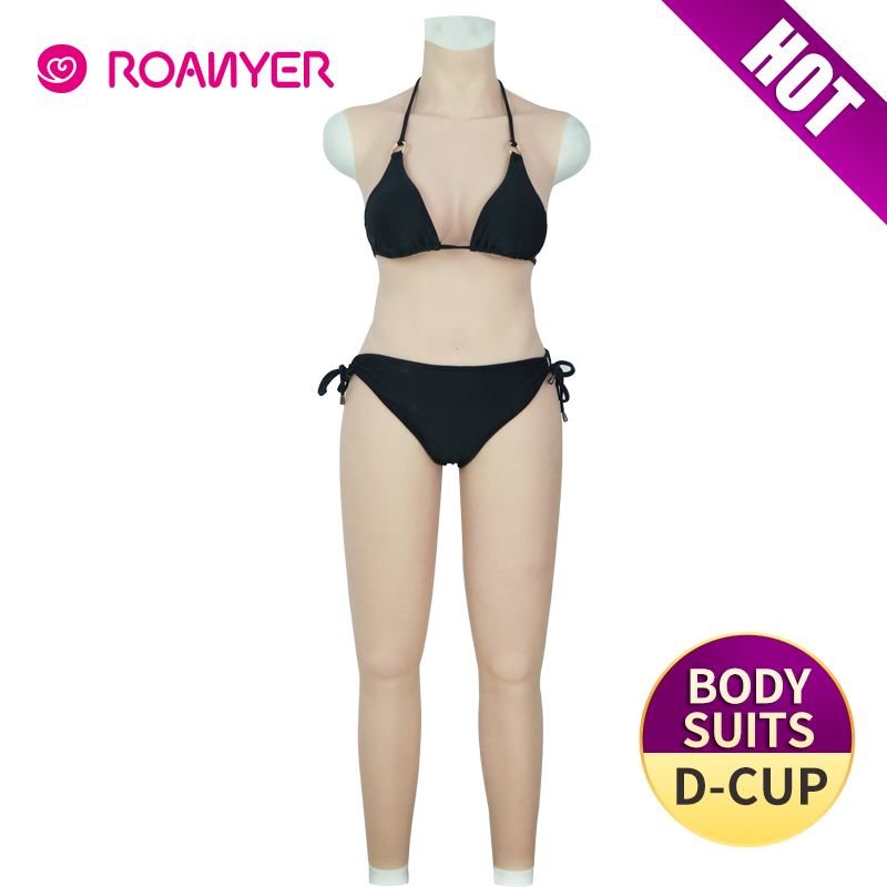 Silicone Breast Forms Fullbody Suit Transgender Pant E Cup Drag Queen Crossdress