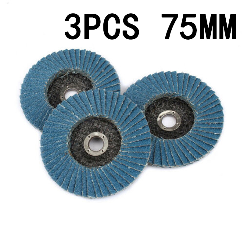 3 Pcs Grinding Wheels Flap Discs 75mm 3 Inch Sanding Disc Grinding Wheels Blades For Angle Grinder Wood Abrasive Tool
