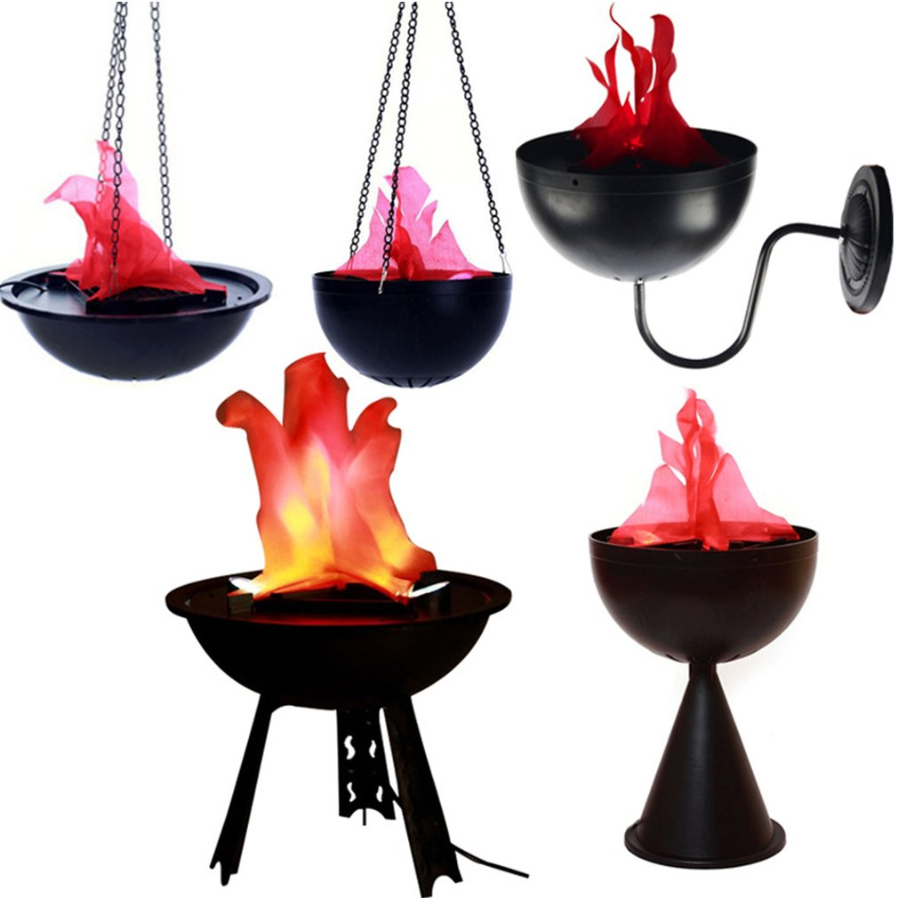 Halloween Decoration Electronic Props Brazier Lamp Hanging Simulation Flame Lamp Ornaments Halloween For Bar Haunted House