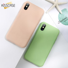 KISSCASE Original Liquid Silicone Phone Case For Xiaomi Mi 9SE/9/8/8X Soft Thin Back Cover For Redmi Note 7/6/6 Pro Coque Fundas(China)