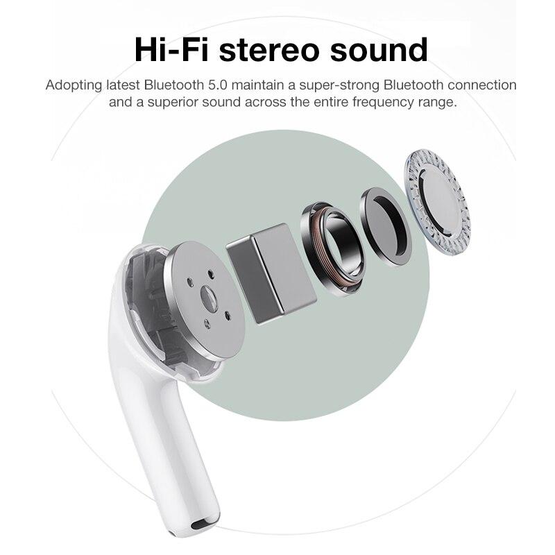 TWS Bluetooth Earphone V5.0 9D Stereo Wireless Headphones Sport Waterproof Earphones Mini True Wireless Earbuds for cellphone