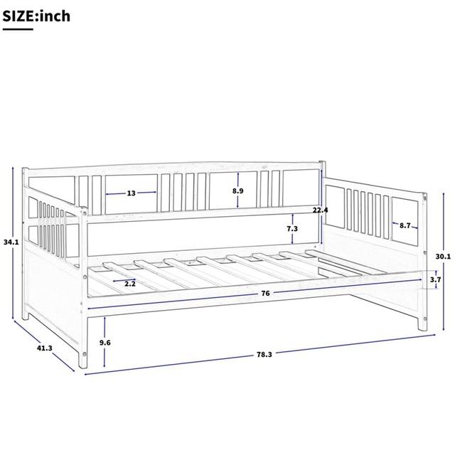 Wooden Bed  Pine Frame  5