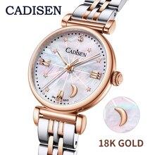 2020 Cadisen Vrouwen Horloges 18K Gold Luxe Merk Mode Quartz Horloge Gold Strap Vrouwen Polshorloge Relogio Feminino Reloj mujer