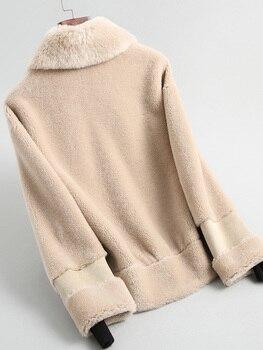 Real 2020 Abrigo corto Mujer 200% lana chaqueta Otoño Invierno mujeres abrigos...