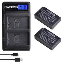 2 pièces EN-EL20 EN EL20 ENEL20 EN EL20a Batterie et LCD Double Chargeur pour Nikon Coolpix P1000 Nikon1 J1, J2, J3 Nikon1 AW1