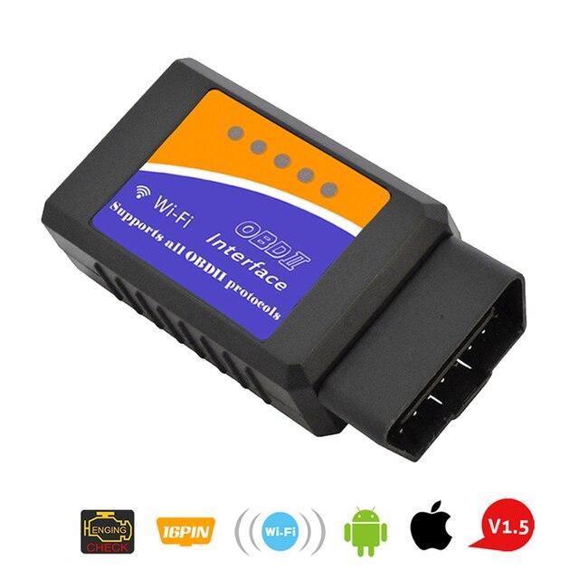 Super Mini Elm327 WIFI OBD2 V1.5 Elm 327 V 1.5 OBD 2 samochodów narzędzie diagnostyczne skaner Elm 327 adapter obdii automatyczne narzędzie diagnostyczne