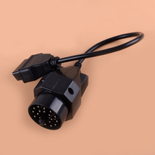 CITALL Black Round 20pin to 16pin OBD2 OBDII Diagnostic Adapter Cable Connector Auto Car Interior Accessories Fit for Old BMW