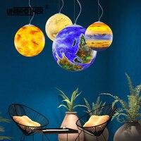 handmade Planet pendant light Hanging lamp Uranus Earth Venus sun Mars Creative lights for Living Study Room Cosmic Kindergarten