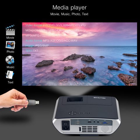 119$ Clearance Sale BYINTEK BL126 HDMI LCD Home Theater HD Video Portable LED Projector Multan