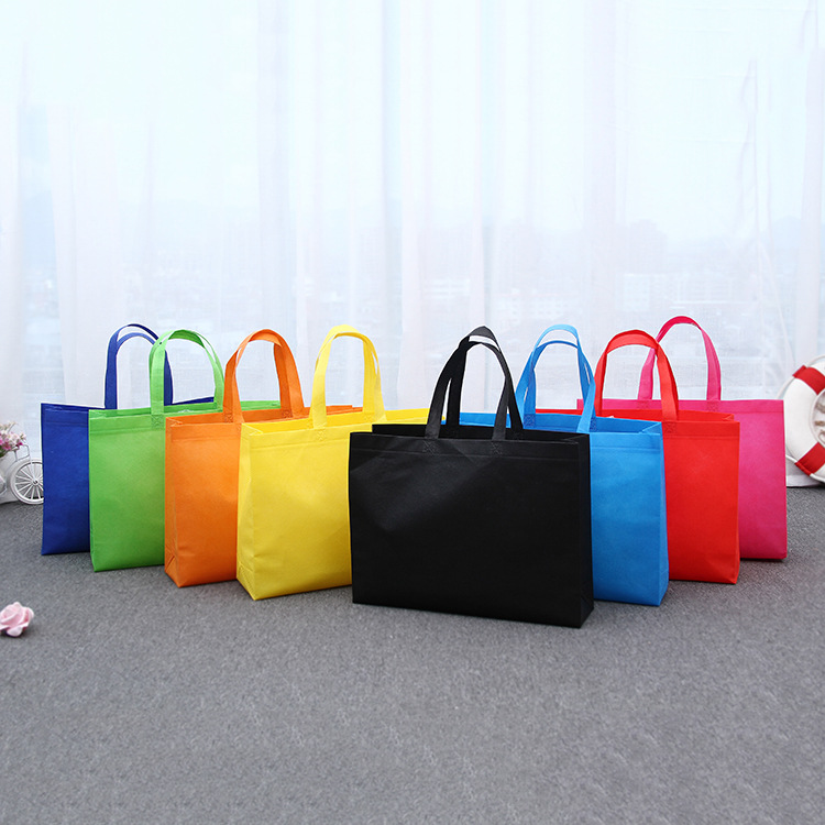 Non-woven Eco-friendly Foldable Popular Unisex Reusable Tote Women Shopping Bag Shoulder Bags Pouch 1PC Grocery Cloth Bags