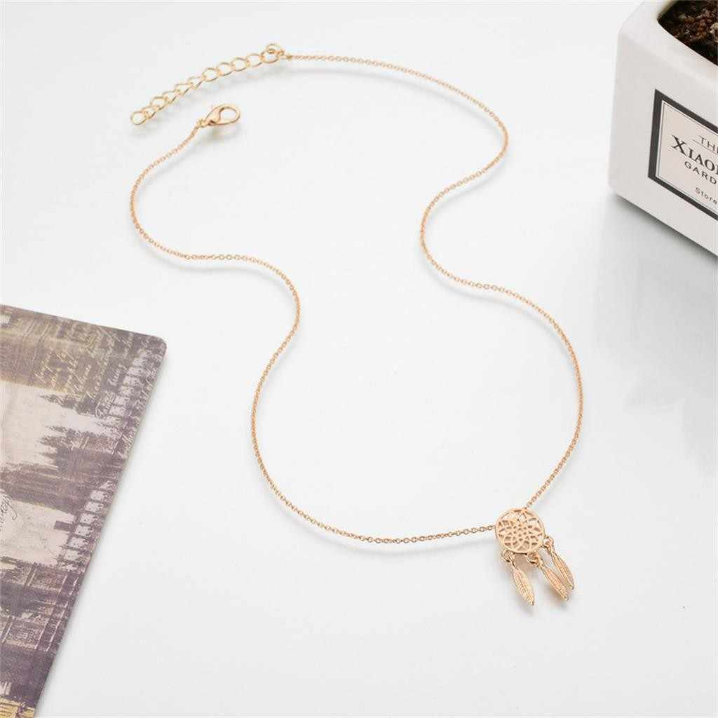 Bohemian Gold  long tassel Pendant Statement Necklace Fashion Dainty Initial Personalized  Pendant Necklaces For Women Girls