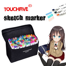 TouchFIVE Marker Pen 30/40/60/80/168 Colors Art Markers Set Double Head Artist Sketch Oily Pen Manga Pen Painting set multicolor 30 40 60 80 colors marker pen double headed nib student painting art school horticultural landscape design