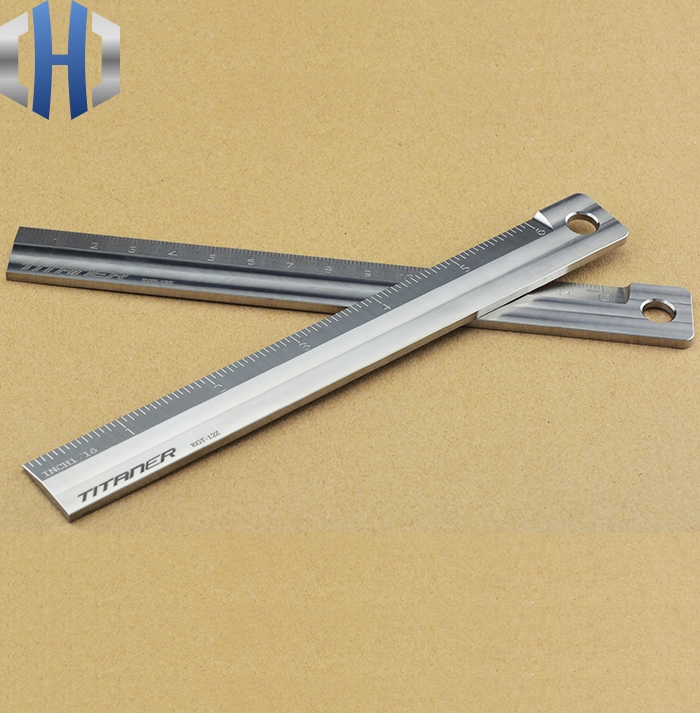 Titanium Alloy Metric Ruler Primary School Stationery Ruler 15cm Measurement Tool Drawing Ruler