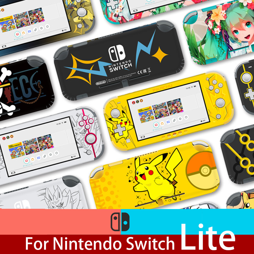 Nintend Skins Protector Sticker For Nintendo Switch Lite Mini NS Skin Set For Pikachu Eevee Protective Film NS Accessories