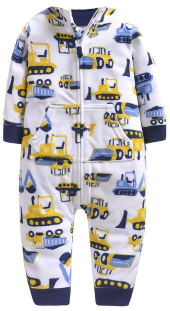 2019 Baby clothes bebes jumpsuit collar fleece newborn pajamas infants baby boys clothes toddler boys clothes coveralls outwear 4