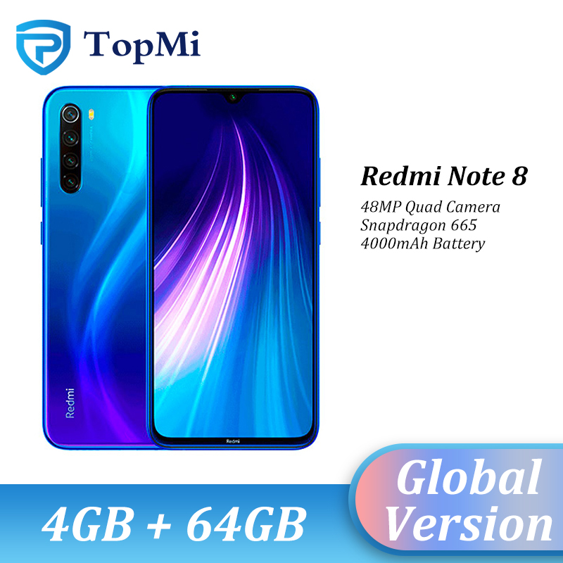 Глобальная версия Xiaomi Redmi Note 8, 4 Гб RAM, 64 ГБ ROM, смартфон 48MP Quad Camera Snapdragon 665 6,3
