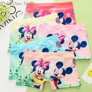 5pc/package Cartoon Girls Underwear Boxer Knicker Panties Children Cotton Underpants Girls Minnie Pattern Little Kids Underwear