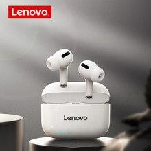 Lenovo verdadeiro fones de ouvido sem fio ipx4 bluetooth 5.0 fone de ouvido redução de ruído in-ear correndo esporte fones de 12h música tempo lp1s novo