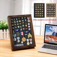 Коллекционный держатель для медали, подставка для демонстрации, чехол для медали, деревянные полки для хранения, Подарочная подставка для монет