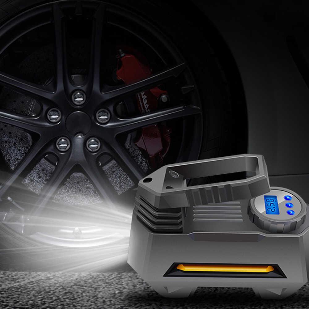Bomba de compresor de aire portátil inflador control de presión de neumáticos pantalla digital LCD 12 V para coche camión bicicletas RV 22 cilindros