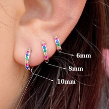 1Pcs Septum Good Tiny Hoop Ring Nose Labret Ear Tragus Cartilage Helix Conch Lobe Earring Stud Body Piercing Jewelry