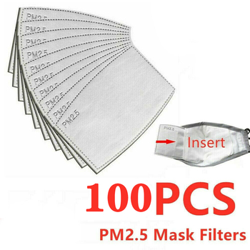 10/50/100pcs Replaceable PM2.5 Carbon Filter Paper Anti Haze mouth Face Mask Anti Dust Mask Activated Filter Paper For Men Women