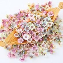 Mini cabezas de flores artificiales de margaritas Multicolor para boda, guirnalda para libro de recortes, caja de caramelos de regalo, decoración del hogar, 50 y 100 Uds.