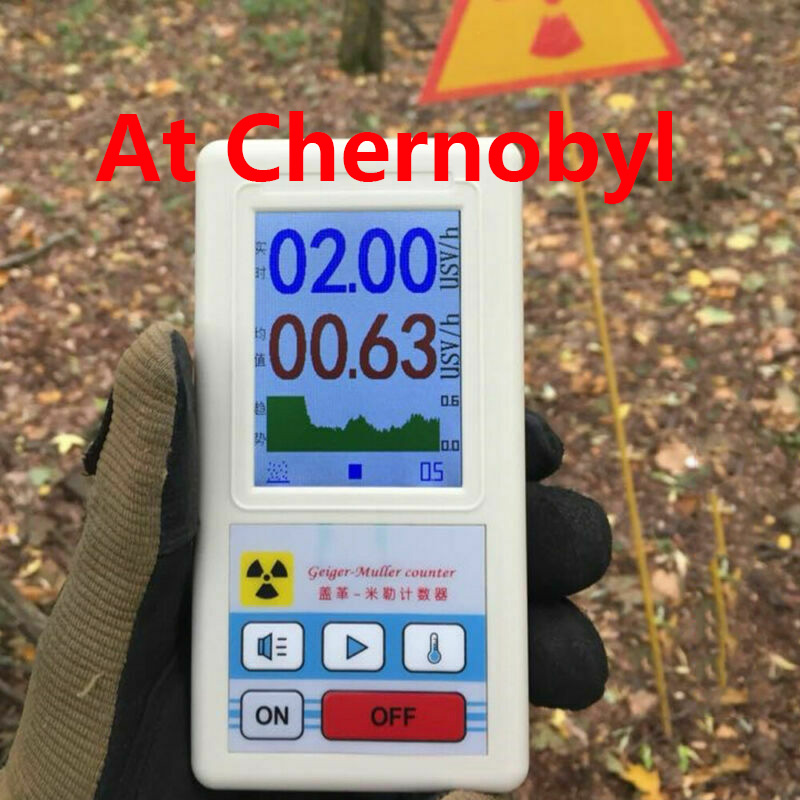 Dosimeter Counter Geiger Display Color Screen Nuclear Radiation Detector Personal Dosimeter X-ray Beta Gamma Detector