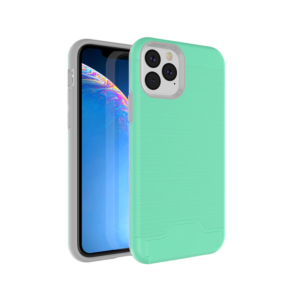 Brushed Armor Card Holder Case for iPhone 11/11 Pro/11 Pro Max 11